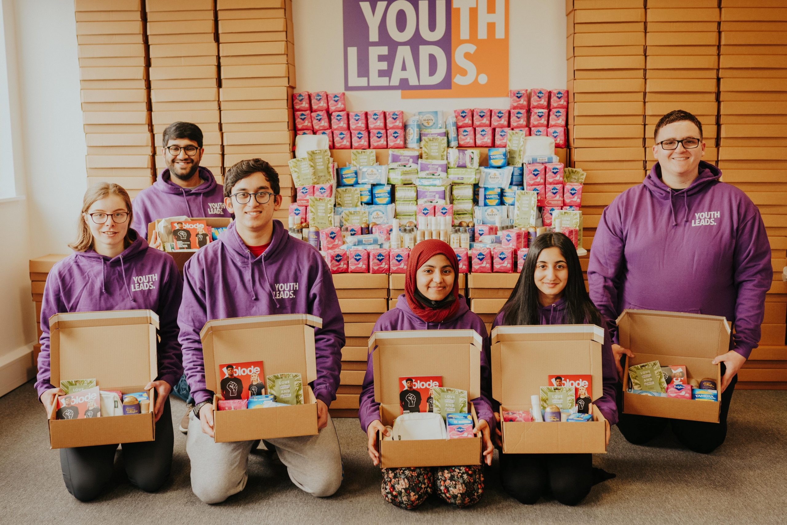 Young People with Self Care Packs min min